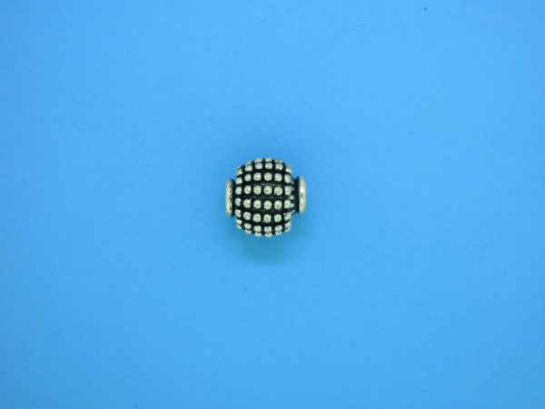 15418 - Bali Silver Bead 9x9.5mm