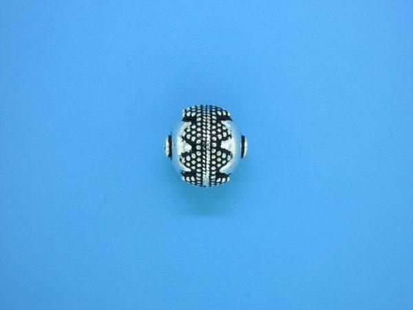 15425 - Bali Silver Bead 12.5x12.5mm