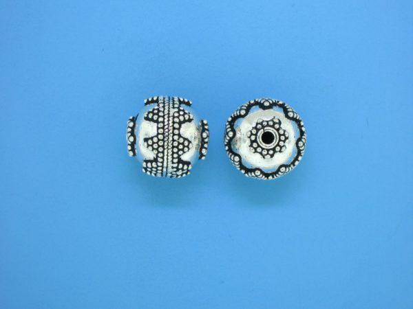 15427 - Bali Silver Bead 13x13mm