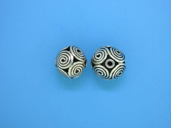 15429 - Bali Silver Bead 12.5x12.5mm