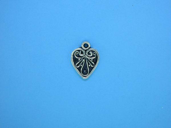 15434 - Bali Silver Charm 11.5x14mm