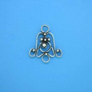 15441 - Bali Silver Chandelier 18x20mm