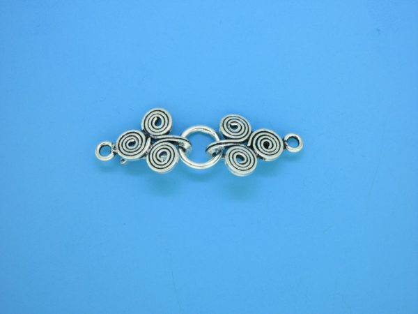 15443 - Bali Silver Clasp 11x34mm