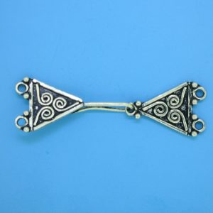 15445 - Bali Silver 2 Strands Clasp 14x39mm