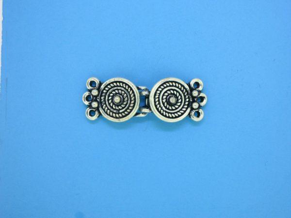 15446 - Bali Silver 3 Strands Clasp 10x29mm
