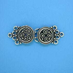 15447 - Bali Silver Multi Strands Clasp 13x37mm
