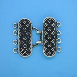 15449 - Bali Silver 4 Strands Clasp 25x32mm