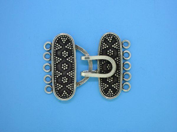 15450 - Bali Silver 5 Strands Clasp 25x32mm