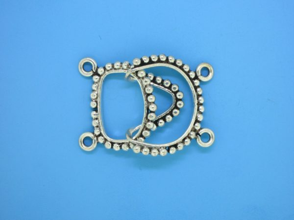 15451 - Bali Silver 2 Strands Clasp 22x31mm