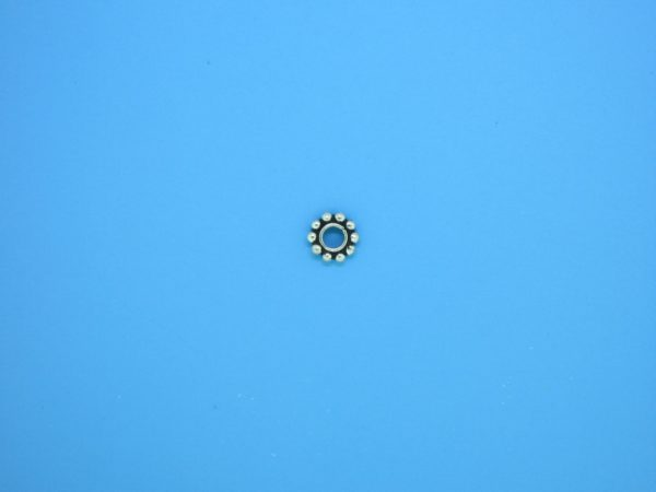 15498 - Bali Silver Round Daisy Spacer 1x5mm