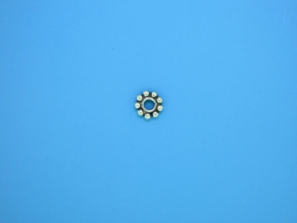 15501 - Bali Silver Round Daisy Spacer 1.5x6mm
