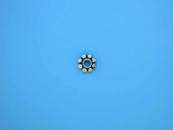 15504 - Bali Silver Round Daisy Spacer 2x7mm