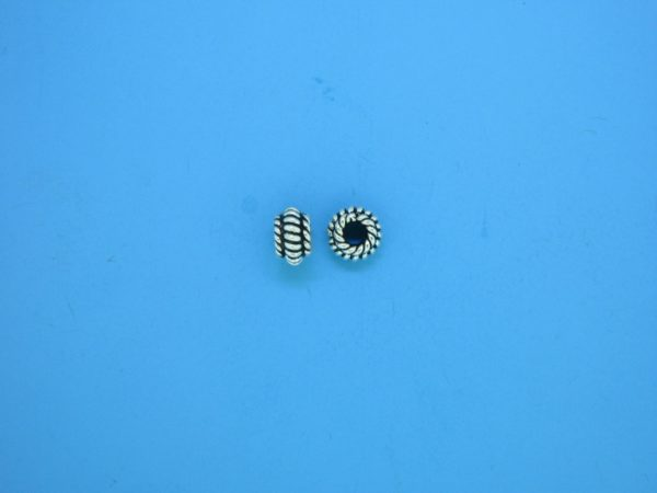 15511 - Bali Silver Spacer Bead 3.5x6mm