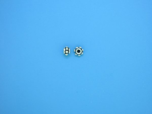 15516 - Bali Silver Spacer Bead 2.5x4mm