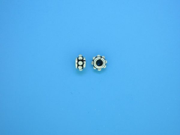 15520 - Bali Silver Spacer Bead 3.5x5.5mm