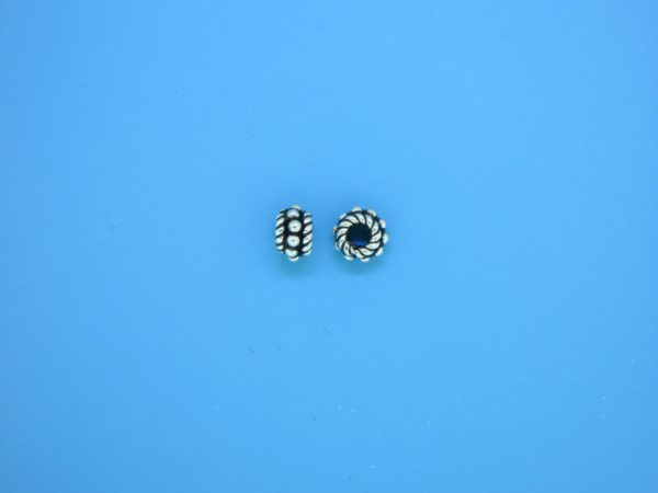 15522 - Bali Silver Spacer Bead 3.5x5.5mm