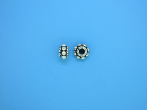 15524 - Bali Silver Spacer Bead 4.2x7mm