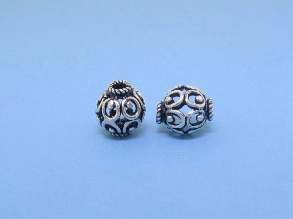 15422 - Bali Silver Bead 9x10mm
