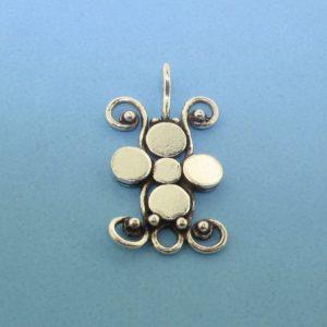 15440 - Bali Silver Chandelier 12x22mm