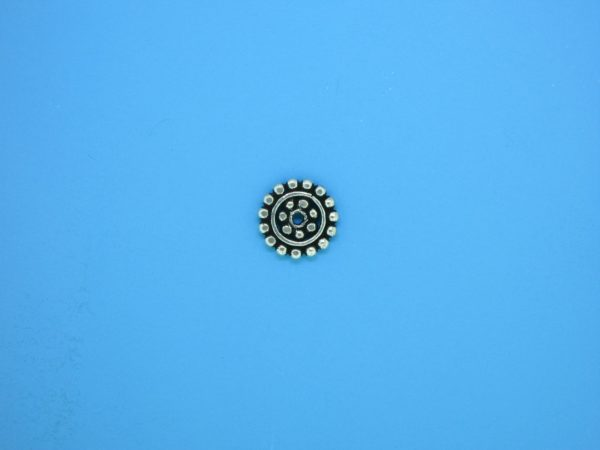 15534 - Bali Silver Daisy Spacer 1.25x9mm