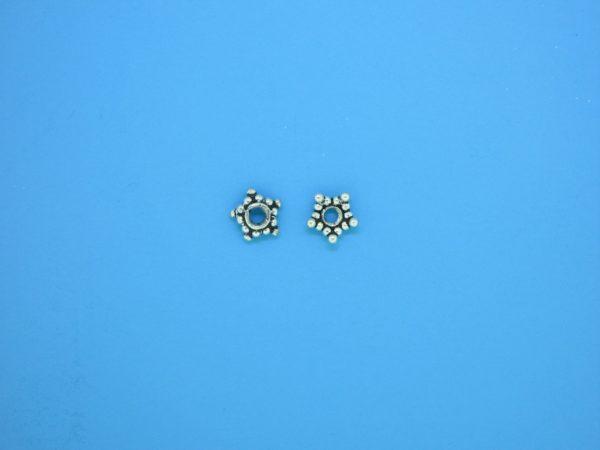 15537 - Bali Silver Bead Cap  2x5.5mm