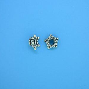 15539 - Bali Silver Bead Cap  4x8mm
