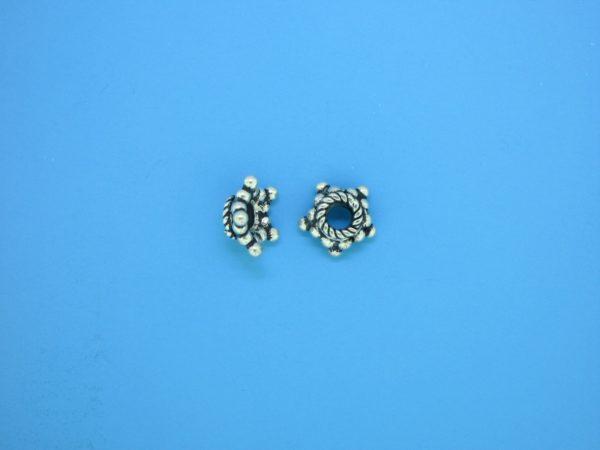 15540 - Bali Silver Bead Cap  4x8mm