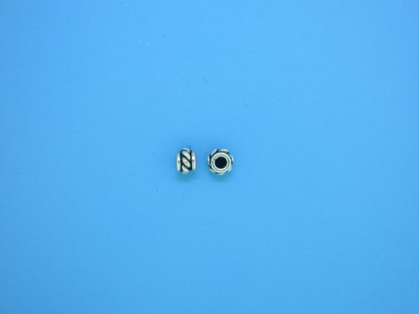 15547 - Bali Silver Spacer Bead 3x4mm