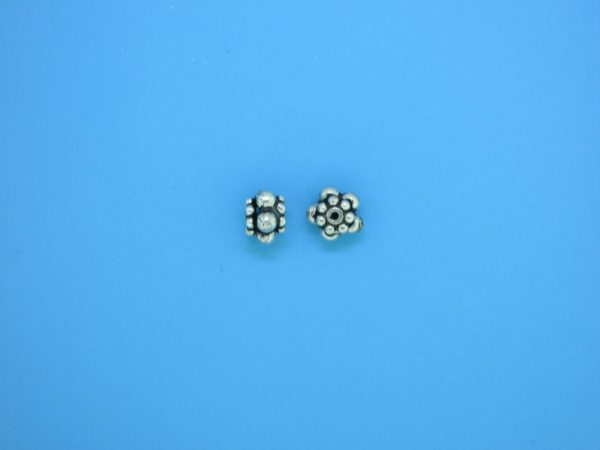 15548 - Bali Silver Spacer Bead 4x6mm
