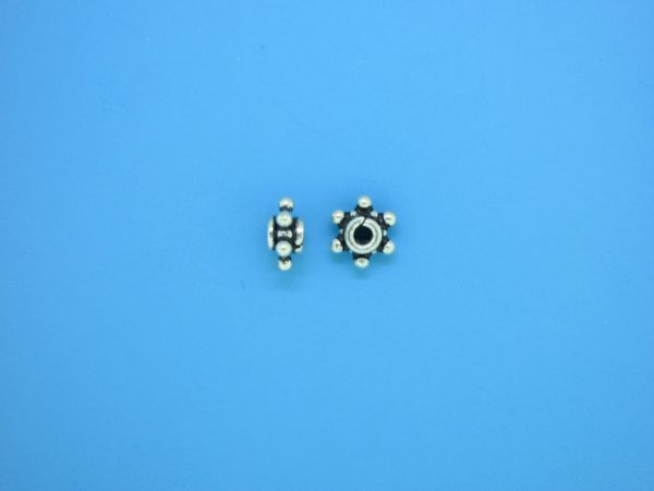 15550 - Bali Silver Spacer Bead 3x7mm