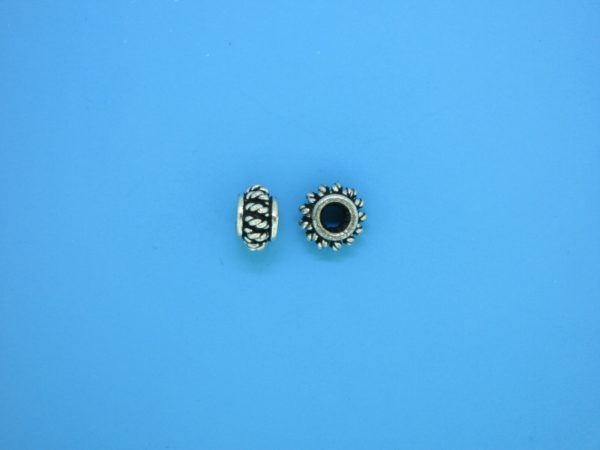 15552 - Bali Silver Spacer Bead 4.5x7.5mm