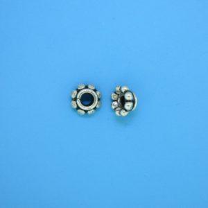 15564 - Bali Silver Bead Cap 7mm