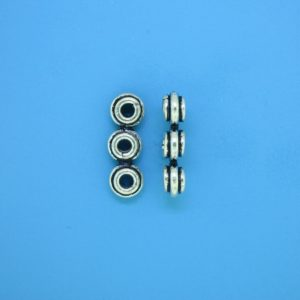 15571 - Bali Silver 3 Hole Spacer Bead 6x17mm