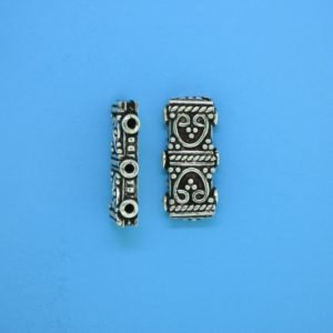 15580 - Bali Silver 3 Hole Spacer Bar 18mm
