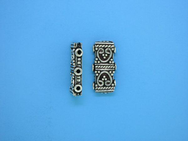 15580 - Bali Silver 3 Hole Spacer Bar 18mm