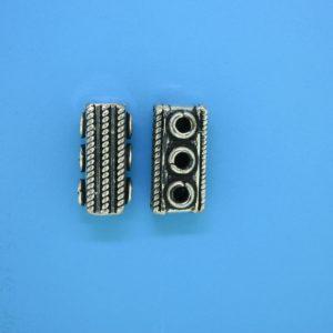 15582 - Bali Silver 3 Hole Spacer Bar 16mm