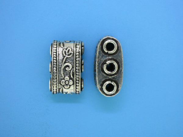 15584 - Bali Silver 3 Hole Spacer Bar 20mm