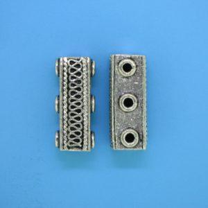 15585 - Bali Silver 3 Hole Spacer Bar 22mm