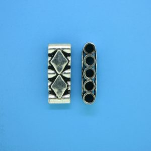 15588 - Bali Silver 5 Hole Spacer Bar 20mm