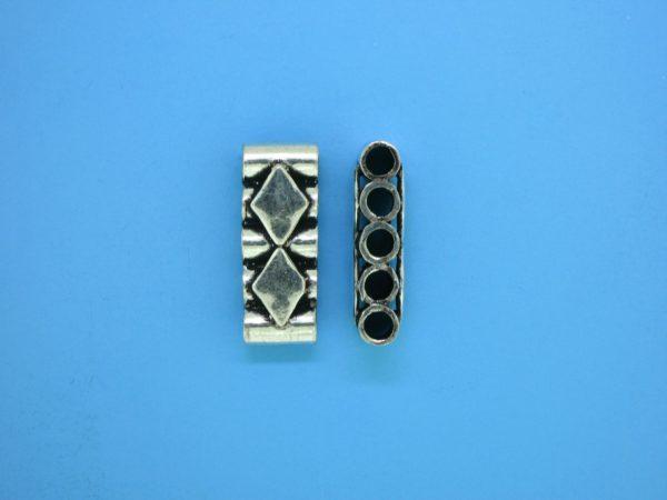 15588 - Bali Silver 5 Hole Spacer Bar 20mm