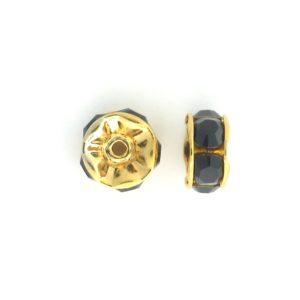 3605 - 5mm  Swarovski Rhinestone Gold Plated Rondelle - Garnet