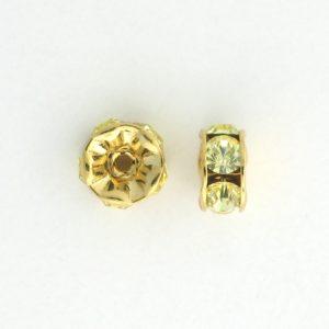 3605 - 5mm  Swarovski Rhinestone Gold Plated Rondelle - Jonquil
