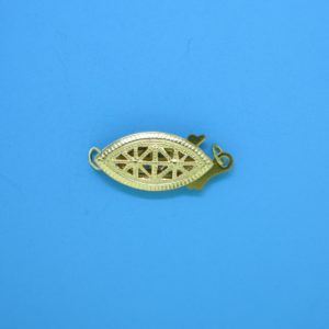 366 - 7.5x18mm Gold Filled Fish Hook Clasp