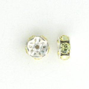 3605S - 5mm  Swarovski Rhinestone Silver Plated Rondelle - Jonquil