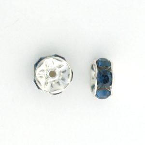 3605S - 5mm  Swarovski Rhinestone Silver Plated Rondelle - Montana