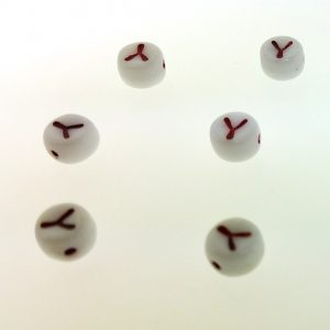 9011RW - 6mm Red and White Alphabet - Y