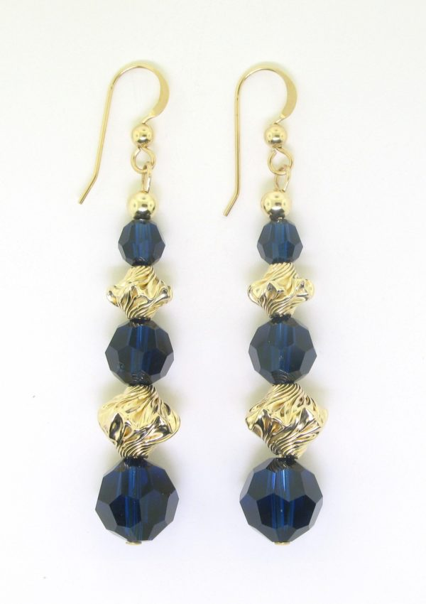 #22110 - Swarovski Crystal Earring With Gold Filled Beads