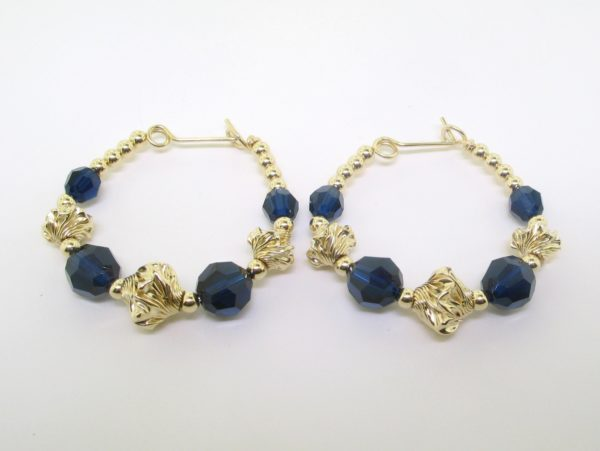 #22111 - Swarovski Crystal Earring With Gold Filled Beads