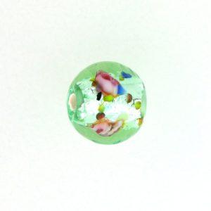 6106L - Czech Silver Foil Round Beads - Light Green