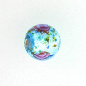 6108L - Czech Silver Foil Round Beads - Aquamarine
